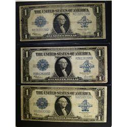 3-1923 $1.00 SILVER CERTIFICATES, NICE CIRCS