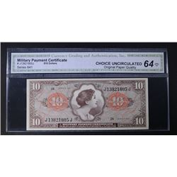 SERIES 641 $10 MILITARY PAYMENT CERTIFICATE