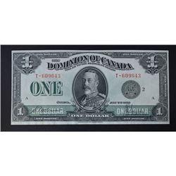 1923 $1 DOMINION OF CANADA