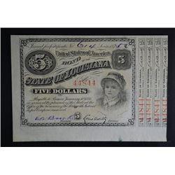 1875 $5 BABY BOND GEM CU