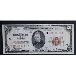 1929 $20 NATIONAL CURRENCY CH.CU