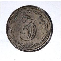 "1853 SILVER 10C ""LOVE TOKEN"" ""F"""