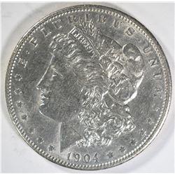1904 MORGAN DOLLAR  AU/UNC