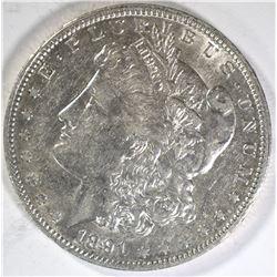 1891-O MORGAN DOLLAR  AU