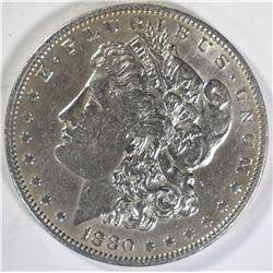 1880-O MORGAN DOLLAR  AU/UNC