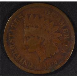 1872 INDIAN HEAD CENT  G-VG