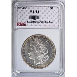 1878-CC MORGAN DOLLAR RNG CH BU