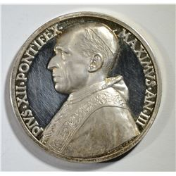 SILVER PROOF PAPAL MEDAL POPE PIUS VIII