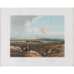Karl Bodmer, hand colored lithograph