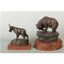Earle E. Heikka, two bronzes