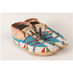 Sioux Beaded Man's Moccasins