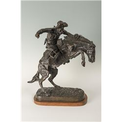 Frederic Remington, bronze, Glenna Goodacre, bronze