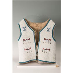 "Blackfeet Beaded Man's Vest, 22"" x 18"""