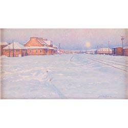 James Poulson, oil on canvasboard, Carolyn Anderson, oil on board