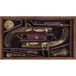 Cased Pair of Henry Deringer Pistols