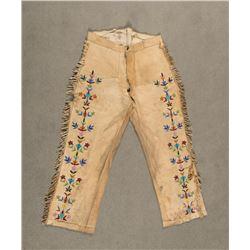 "Santee Sioux Beaded Pants, 42"" long"
