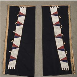 "Sioux Beaded Leggings, 33.5"" x 13.5"" overall"