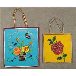 Pair of Pictorial Plateau Beaded Bags