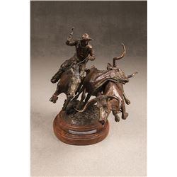 John W. Hampton, bronze