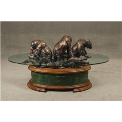 Daniel Parker, bronze table