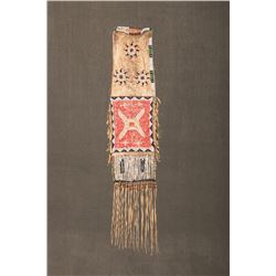 "Oglala Sioux Beaded and Quilled Pipebag, 33"" long"