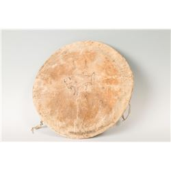 "Lakota Painted Shield Cover, 18"" diameter"
