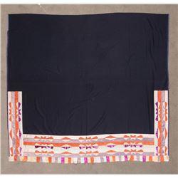 "Osage Ribbon Blanket, 6'4"" x 5'11"""