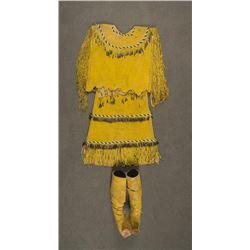 Apache Puberty Dress & Matching Moccasins