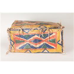 """Sioux Parfleche Box, 7"""" x 8"""" x 14"""""""