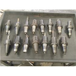 CAT45 Misc End Mill Holders, 15 Total