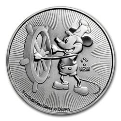 2017 $2 Disney Steamboat Willie Niue Silver Coin