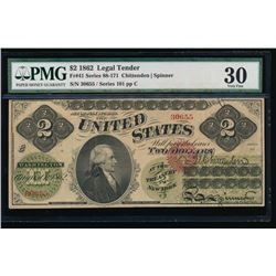 1862 $2 Legal Tender Note PMG 30