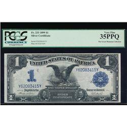 1899 $1 Black Eagle Silver Certificate PCGS 35PPQ