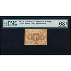 5 Cent First Issue Fractional Note PMG 63EPQ