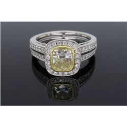 18KT Two Tone Gold 1.19ctw Diamond Ring