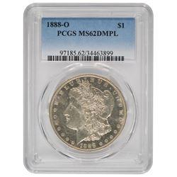 1888-O $1 Morgan Silver Dollar Coin PCGS MS62DMPL