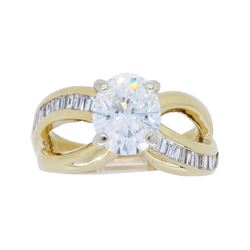 14KT Yellow Gold 1.22ct GIA Cert Diamond Ring