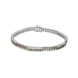 14KT White Gold 4.10ctw Diamond Bracelet