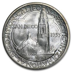 1935-S San Diego Commemorative Half Dollar Coin