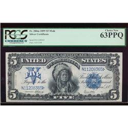 1899 $5 Chief Silver Certificate PCGS 63PPQ