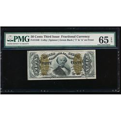 50 Cent Third Issue Fractional Note No Serial Number PMG 65EPQ