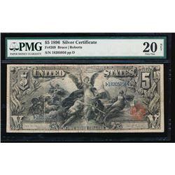 1896 $5 Silver Certificate PMG VF20NET