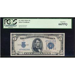 1934C $5 Silver Certificate PCGS 66PPQ