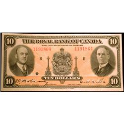1935 $10 Royal Bank of Canada Note