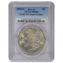1890-O $1 Morgan Silver Dollar Coin PCGS MS64 VAM 10