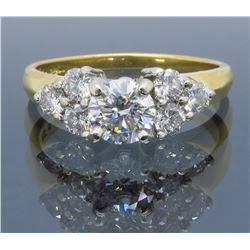 18KT Yellow Gold 0.53ct GIA Cert Diamond Ring