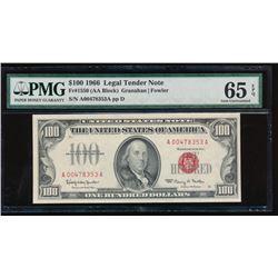 1966 $100 Legal Tender Note PMG 65EPQ