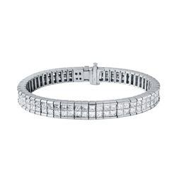 14KT White Gold 7.15ctw Diamond Bracelet