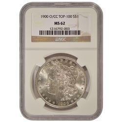 1900-O/CC $1 Morgan Silver Dollar Coin NGC MS62