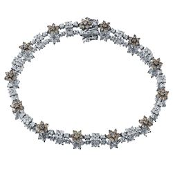 14KT White Gold 2.76ctw Diamond Bracelet